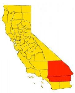 Inland Empire in California Map